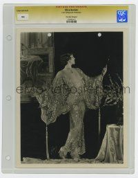 8s029 OLIVE BORDEN slabbed deluxe 8x10 still '20s wonderful glamour portrait in lace gown by Autrey!