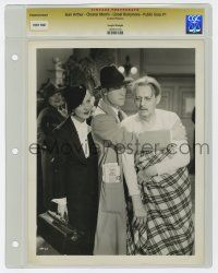 8s031 PUBLIC HERO NUMBER 1 slabbed 8x10 still '35 Jean Arthur watches Chester Morris & Barrymore!