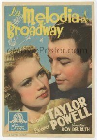 8s157 BROADWAY MELODY OF 1938 Spanish herald '37 Eleanor Powell with George Murphy for 1st time!