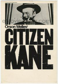 8s002 CITIZEN KANE mini WC R60s Orson Welles campaigning for governor by huge poster, Janus Films!