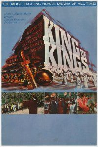 8s005 KING OF KINGS mini WC '61 Nicholas Ray Biblical epic, cool title art + inset scenes!