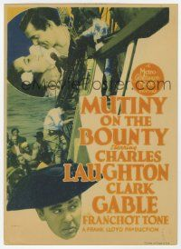 8s007 MUTINY ON THE BOUNTY mini WC '35 Clark Gable, Charles Laughton, sexy Movita, different!