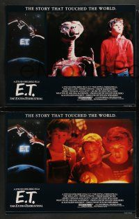 8w139 E.T. THE EXTRA TERRESTRIAL 8 English LCs R85 Drew Barrymore, Spielberg, cool Alvin art