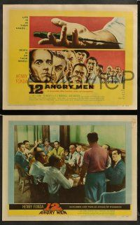8w001 12 ANGRY MEN 8 LCs '57 great images of Henry Fonda, Lee J. Cobb, E.G. Marshall & the other 9!