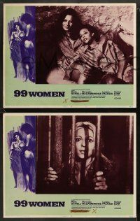 8w024 99 WOMEN 8 LCs '69 Jess Franco's 99 Mujeres, they're behind bars without men, sexy images!