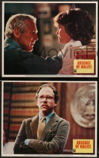 8w027 ABSENCE OF MALICE 8 LCs '81 Paul Newman, Sally Field, Sydney Pollack directed!