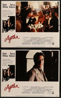 8w032 AGATHA 8 LCs '79 images of Dustin Hoffman & Vanessa Redgrave as Christie!