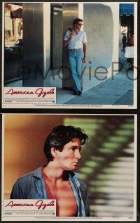 8w038 AMERICAN GIGOLO 8 LCs '80 handsomest male prostitute Richard Gere & Lauren Hutton!