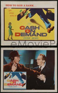 8w098 CASH ON DEMAND 8 LCs '62 Peter Cushing, how to rob a bank and get away with it!
