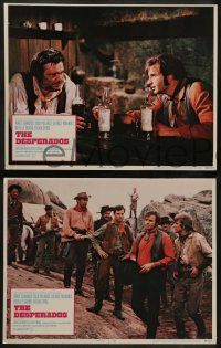 8w126 DESPERADOS 8 LCs '69 Vince Edwards, Jack Palance, hang on to your money & your women!