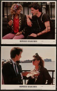 8w127 DESPERATELY SEEKING SUSAN 8 LCs '85 Madonna & Rosanna Arquette are mistaken for each other!