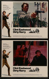8w131 DIRTY HARRY 8 LCs '71 great images of Clint Eastwood, Don Siegel crime classic!
