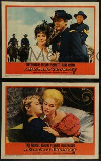 8w132 DISTANT TRUMPET 8 LCs '64 Troy Donahue, Suzanne Pleshette, images of the Great Indian War!