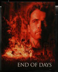 8w011 END OF DAYS 10 LCs '99 cool images of Arnold Schwarzenegger, Robin Tunney, Gabriel Byrne!