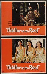 8w151 FIDDLER ON THE ROOF 8 LCs '71 great images of Topol, Norman Jewison musical!