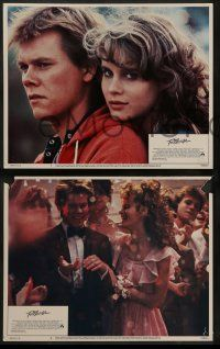8w159 FOOTLOOSE 8 LCs '84 Lori Singer, Dianne Wiest, Kevin Bacon shows hicks how to dance!