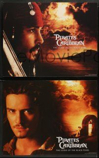 8w006 PIRATES OF THE CARIBBEAN 14 LCs '03 Johnny Depp as Jack Sparrow, Keira Knightley, Bloom!