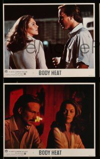 8x033 BODY HEAT 8 8x10 mini LCs '81 super close up of sexy smoking Kathleen Turner!