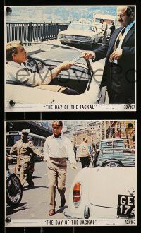 8x022 DAY OF THE JACKAL 9 8x10 mini LCs '73 Fred Zinnemann classic, Edward Fox in title role!