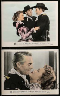 8x016 MAN BEHIND THE GUN 10 color 8x10 stills '52 images of Randolph Scott, pretty Patrice Wymore!