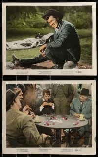 8x019 RAWHIDE YEARS 10 color 8x10 stills '55 poker playing Tony Curtis + Colleen Miller & Kennedy!