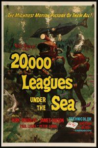 8y010 20,000 LEAGUES UNDER THE SEA 1sh R71 Jules Verne classic, wonderful art of deep sea divers!