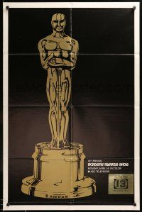 8y019 41ST ANNUAL ACADEMY AWARDS 1sh '69 cool image of Oscar statuette!