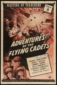 8y029 ADVENTURES OF THE FLYING CADETS chapter 8 1sh '43 Universal serial, Masters of Treachery!