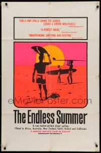 8y255 ENDLESS SUMMER 1sh '67 Bruce Brown surfing classic, best John Van Hamersveld art of surfers!