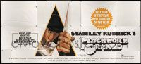 9g003 CLOCKWORK ORANGE 24sh '72 Kubrick classic, Castle art of McDowell, X rating, ultra rare!