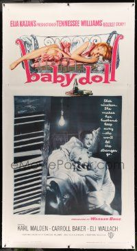 9g016 BABY DOLL linen 3sh '57 Elia Kazan, different image of sexy troubled teen Carroll Baker!
