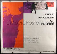 9g009 BULLITT linen 6sh '68 great full-length Steve McQueen + cool montage, different & ultra rare!