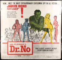 9g011 DR. NO linen 6sh '62 Sean Connery is the most extraordinary gentleman spy James Bond 007!