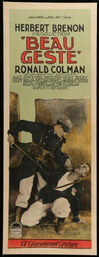 9g230 BEAU GESTE insert '26 c/u of Ralph Forbes holding sword to officer's throat, ultra rare!