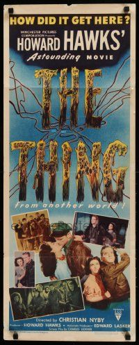 9g256 THING insert '51 Howard Hawks' astounding movie, how did it get here from another world!