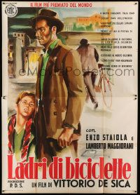 9g306 BICYCLE THIEF Italian 2p R55 Vittorio De Sica's classic Ladri di biciclette, great art!