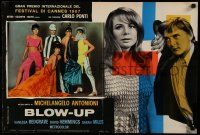 9g350 BLOW-UP Italian 18x27 pbusta '67 Antonioni, Hemmings, great posed portrait of sexy models!