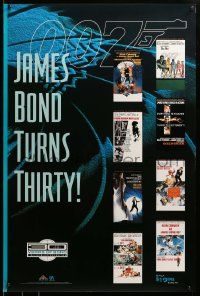 9k704 30 YEARS OF BOND 24x36 video poster '92 James Bond, Connery, poster images!