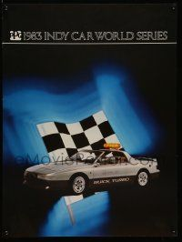 9k417 1983 INDY CAR WORLD SERIES 5 18x24 advertising posters '83 great images of PPG Pace Cars!