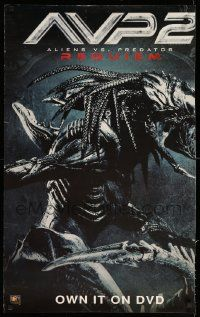 9k709 ALIENS VS. PREDATOR: REQUIEM 24x39 video poster '07 classic movie monsters battle!