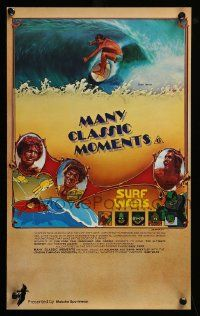 9k037 MANY CLASSIC MOMENTS Aust special poster '78 surfing, wacky Surf Wars cartoon as well!