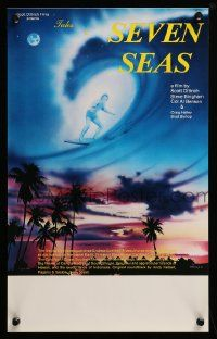 9k038 TALES OF THE SEVEN SEAS Aust special poster '81 cool surfing image and art of surfer in sky!