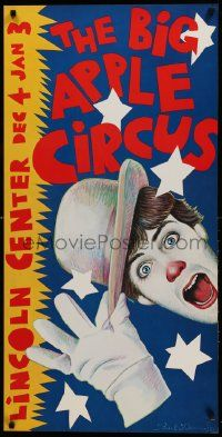 9k027 BIG APPLE CIRCUS 21x42 circus poster '81 cool different Paul Davis artwork!