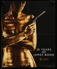 9k818 50 YEARS OF JAMES BOND 16x20 English commercial poster '11 painted woman and titles!