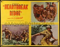 9k025 HEARTBREAK RIDGE 4 uncut LCs '55 art/images of French soldiers at war in Korea!