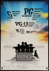 9k015 RATINGS ARE YOUR FRIEND 27x39 1sh '00 MPAA film rating informational poster!