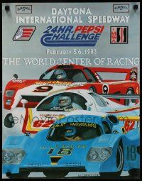 9k483 24 HOURS OF DAYTONA 18x23 special '83 cool racing car art by W.E. Bradford!