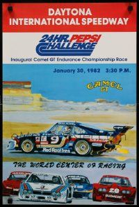 9k482 24 HOURS OF DAYTONA 16x24 special '82 cool racing car art, 24 Hour Pepsi Challenge!