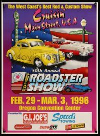 9k484 40TH ANNUAL PORTLAND ROADSTER SHOW 16x22 special '96 Multnomah Hot Rod Council!