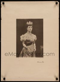 9k140 ALEXANDRA OF DENMARK 17x24 English special 1900s portrait of the Princess of Wales!